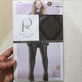アツギ(Atsugi)のRelish perfume チョコレート タイツ 柄 アツギ グンゼ (タイツ/ストッキング)