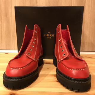 エビス(EVISU)のエヴィス Uチップブーツ 赤 25.5 未使用(ブーツ)