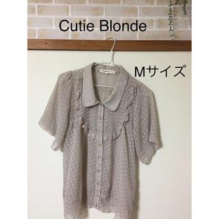 Cutie Blonde♡ 半袖ブラウス Mサイズ