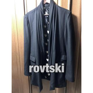 rovtski ドレープジャケット ブラック 黒 高級感 モード ドレープカーデ(ポンチョ)