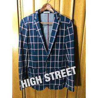 ハイストリート(HIGH STREET)のHIGH STREET チェック柄ジャケット テーラードジャケット ハイブランド(テーラードジャケット)