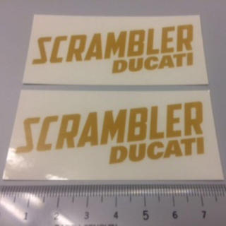 ドゥカティ(Ducati)のDUCATI SCRAMBLER ドゥカティ スクランブラー ステッカー 2枚(ステッカー)