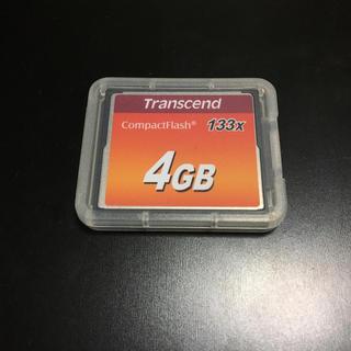 トランセンド(Transcend)のトランセンド 4GB コンパクトフラッシュメモリ CFカード(デジタル一眼)