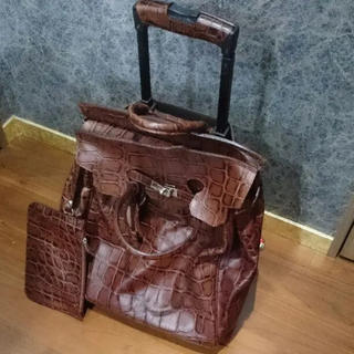 ZIZINO レザー キャリー ブラウン 茶色 旅行バッグ
