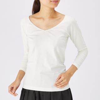 ムジルシリョウヒン(MUJI (無印良品))のインナー Tシャツ(Tシャツ(長袖/七分))