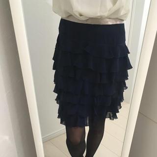 スリック(SLICK)の❤︎春服❤︎ スリック シフォンスカート(ひざ丈スカート)