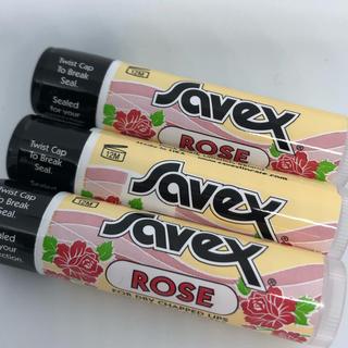 サベックス(Savex)のサベックス  ローズ 3本セット(リップケア/リップクリーム)