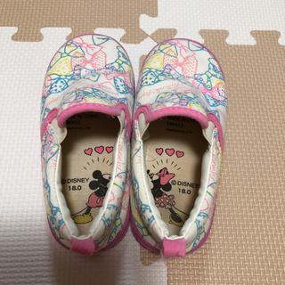 ディズニー(Disney)のディズニーミニーちゃん  スリッポン  18㎝(スリッポン)