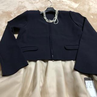 フォクシー(FOXEY)の2019年フォクシーニットジャケット新品ミッドナイトネイビー42(テーラードジャケット)