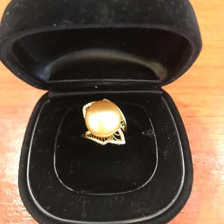 再お値下げ南洋ゴールド真珠(リング(指輪))