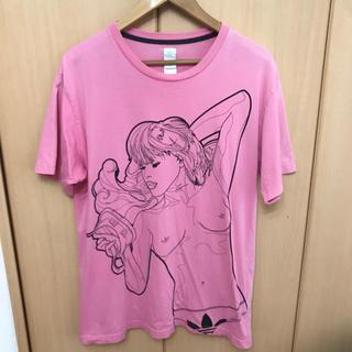 アディダス(adidas)のレア USA購入 adidas ヌード Tシャツ ピンク(Tシャツ/カットソー(半袖/袖なし))