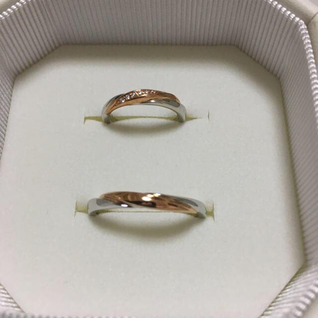 4℃(ヨンドシー)の4°Cブライダル結婚指輪最終お値下げ レディースのアクセサリー(リング(指輪))の商品写真