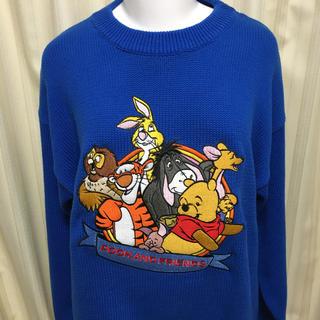 ディズニー(Disney)の新品 プーさん セーター ティガー イーヨー 刺繍 レア グッズ ディズニー(ニット/セーター)