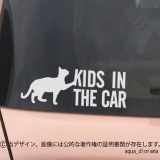 キッズインカー/KIDS IN CAR:猫デザイン1/WH(おもちゃ/ペット小物)
