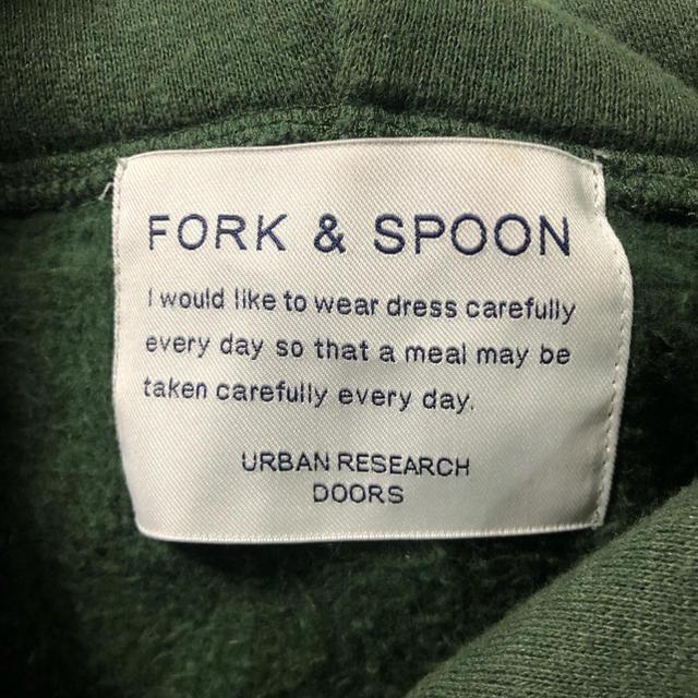 DOORS / URBAN RESEARCH(ドアーズ)の【FORK&SPOON】裏起毛 プルオーバーパーカー F レディースのトップス(パーカー)の商品写真