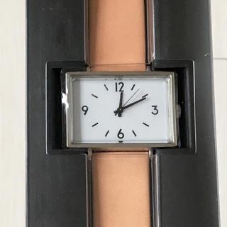 ムジルシリョウヒン(MUJI (無印良品))の【新品】無印良品 腕時計 駅の時計 ヌメ革(腕時計)