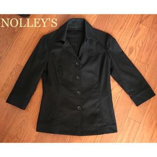ノーリーズ(NOLLEY'S)のNOLLEY'S ノーリーズ 七分袖 シャツ型 ジャケット ブラック (テーラードジャケット)