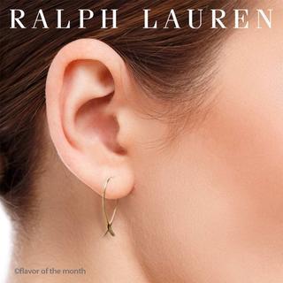 ラルフローレン(Ralph Lauren)のラルフローレン シンプルでエレガントなゴールドフープピアス(ピアス)