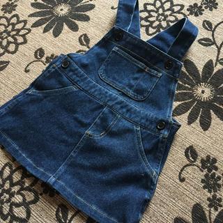 シマムラ(しまむら)のデニム ジャンパースカート 90cm(スカート)