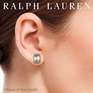 ラルフローレン(Ralph Lauren)のラルフローレン 上品でエレガントなスクエア・クリスタル・ピアス(ピアス)