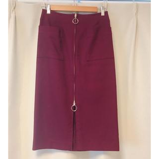ノーブル(Noble)の【美品】ノーブル ジップタイトスカート(ひざ丈スカート)