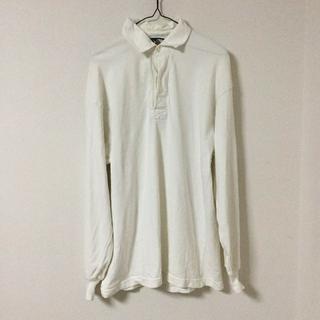 バーバリアン(Barbarian)のBARBARIAN ラガーシャツ 長袖 ポロシャツ カナダ製 白 ホワイト(ポロシャツ)