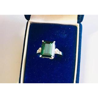 黒緑*天然石リング*未使用(リング(指輪))