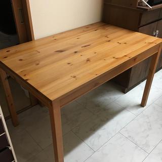 イケア(IKEA)のれいこ様専用 IKEA ヨックモック テーブル 椅子4脚、イス用靴下、クッション(ダイニングテーブル)