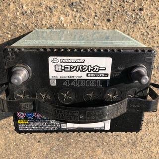 イエロー(yellaw)の日産 モコ 2月使用バッテリー 44B19L(汎用パーツ)