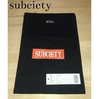 サブサエティ(Subciety)の新品未使用!subciety ボックスロゴ Tシャツ L(Tシャツ/カットソー(半袖/袖なし))
