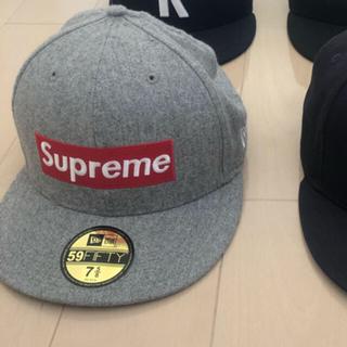 シュプリーム(Supreme)の supreme boxlogo cap national グレー(キャップ)