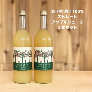 果汁100%ストレートアップルジュース 720ml×2本(ソフトドリンク)