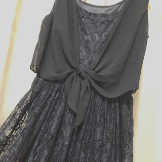 パピヨネ(PAPILLONNER)のパピヨネ 黒 ドレス ワンピース(ひざ丈ワンピース)