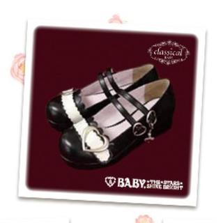 ベイビーザスターズシャインブライト(BABY,THE STARS SHINE BRIGHT)のハートバックルシューズ(ローファー/革靴)