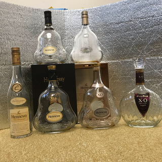 サントリー(サントリー)のヘネシーxo シリーズ空瓶 6本セット(ブランデー)