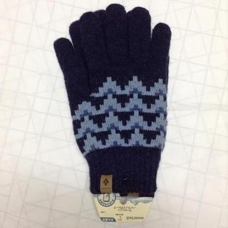 モンベル(mont bell)のモンベル ウールニットハイランドグローブ 男女兼用 インディゴ タッチパネル対応(手袋)