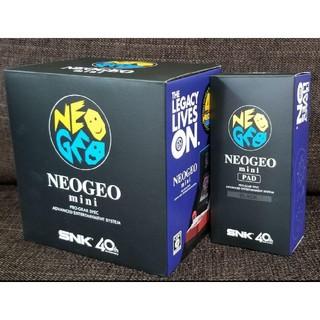 エスエヌケイ(SNK)のSNK  NEOGEO mini ゲーム機本体+PAD Black セット(家庭用ゲーム本体)