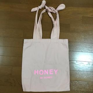 ハニーミーハニー(Honey mi Honey)のハニーミーハニー  ロゴ 持ち手リボントートバッグ(トートバッグ)