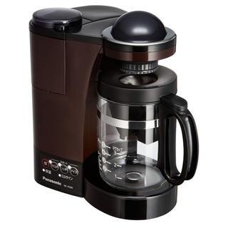 パナソニック(Panasonic)のパナソニック ミル付き浄水コーヒーメーカー ブラウン NC-R500-T(コーヒーメーカー)