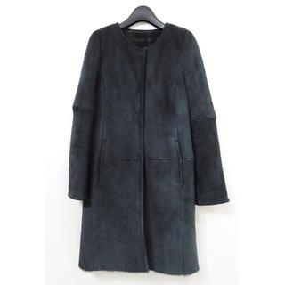 ボールジィ(Ballsey)のBALLSEY ボールジー リアル ムートン レザー ノーカラー コート 羊革(ムートンコート)