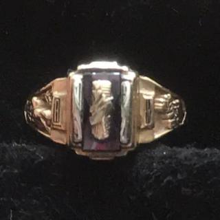 10K jostens カレッジ リング ジャスティンズ 社 正規品 1991(リング(指輪))