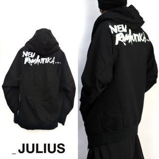 ユリウス(JULIUS)のJULIUS ジップパーカー ドルマン オーバーサイズ ロゴ フーデット(パーカー)