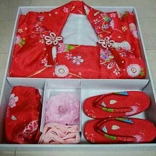 七五三着物セット(3歳女の子)(和服/着物)