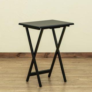 折りたたみ テーブル サイドテーブル ブラック おしゃれ シンプル かわいい(折たたみテーブル)