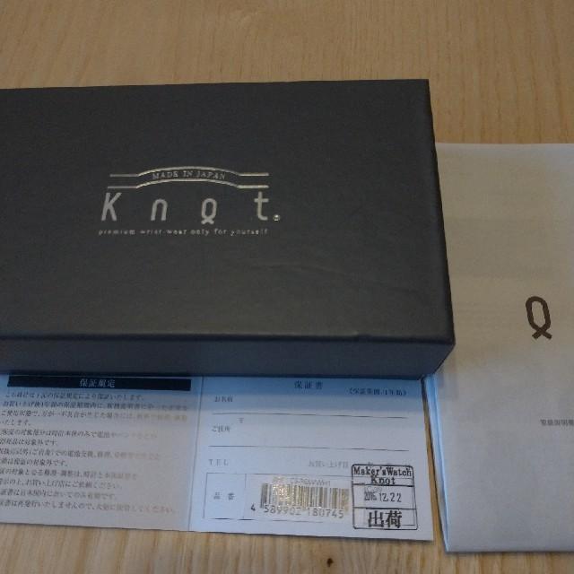 Knot/not(ノットノット)のknot 腕時計 専用 メンズの時計(腕時計(アナログ))の商品写真