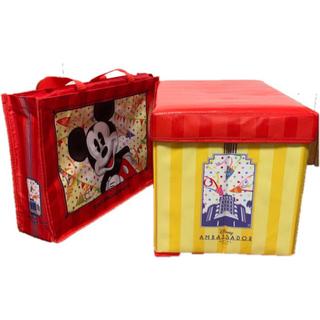 ディズニー(Disney)のディズニー 座れる 収納ボックス・ 手提げバッグ付き(ケース/ボックス)