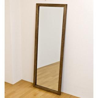 オシャレ 大きい 姿見 ジャンボミラー 鏡 アンティーク ダークブラウン(スタンドミラー)