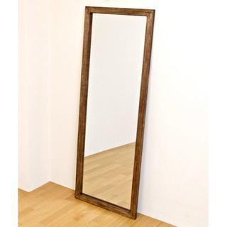 オシャレ 大きい 姿見 ジャンボミラー 鏡 アンティーク ブラウン(スタンドミラー)