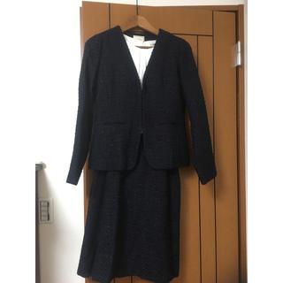 デミルクスビームス(Demi-Luxe BEAMS)のビーミングライフストアバイビームス ラメツイードセットアップ 紺 スーツ 新品(スーツ)