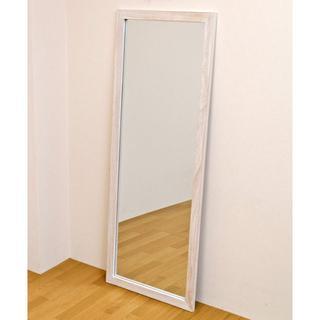 オシャレ 大きい 姿見 ジャンボミラー 鏡 アンティーク ホワイト(スタンドミラー)